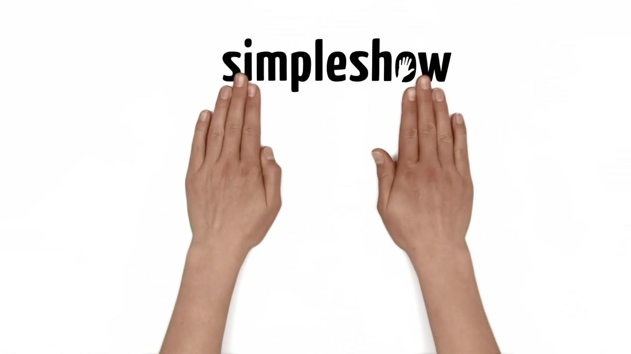 Hände schieben simpleshow rein