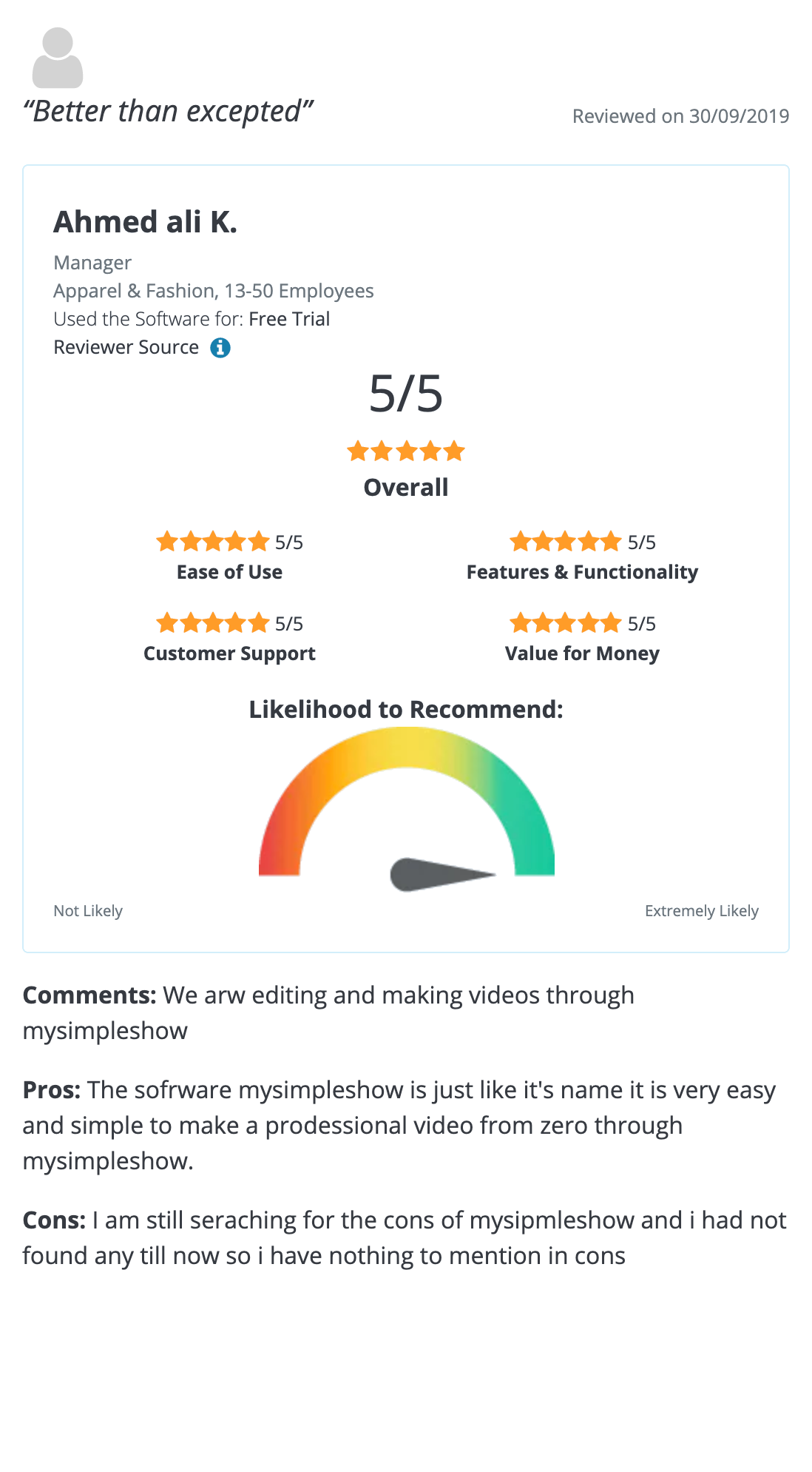 Pricing Simpleshow Video Maker