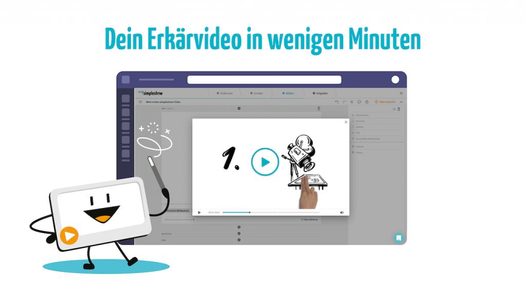 Erstelle Erklärvideos in wenigen Minuten mit dem simpleshow video maker