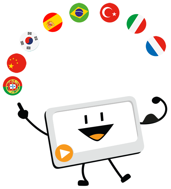 Here is an overview of all of the languages that simpleshow video maker now speaks