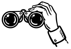 Perspektive - Fernglas