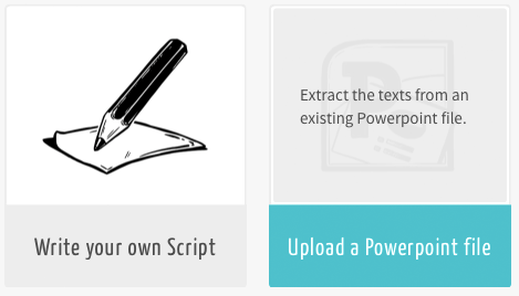Import your PowerPoint file and use it as your script