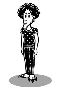 mysimpleshow Charakter-Creator: Weibliches Alien mit Rüssel