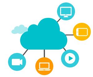 Medien in Cloud