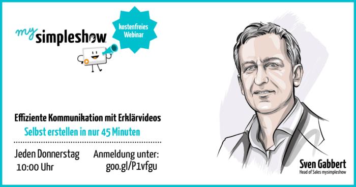Kostenfreies mysimpleshow Webinar zu Erklärvideos ...