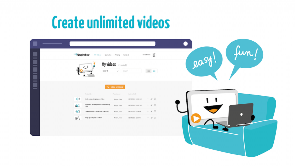 Create unlimited videos with simpleshow video maker